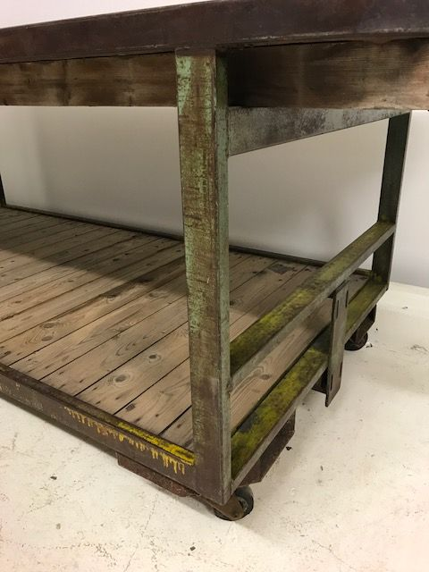 Large Industrial French Work Trolley  - Ideal Counter / Kitchen Island / Retail Display  pt32